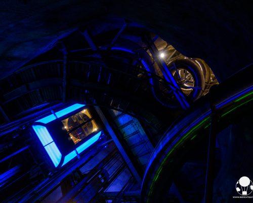 graz stiria austria ascensore e slide all'interno della collina del castello