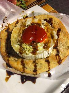 cosa mangiare centro siviglia queso de cabra al forno miele peperone