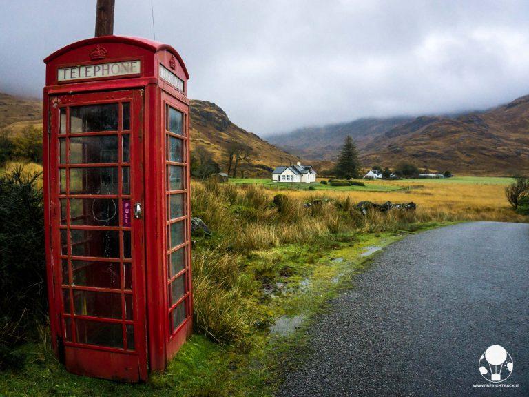scozia itinerario autunnale isle of mull cabina telefonica rossa tipica