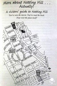 londra notting hill mappa quartiere con luoghi film libro ali mcnamara