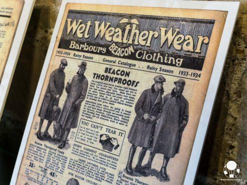 Fountains Hall, i giornali di metà '900 parlano delle innovative giacche di cerata Barbour