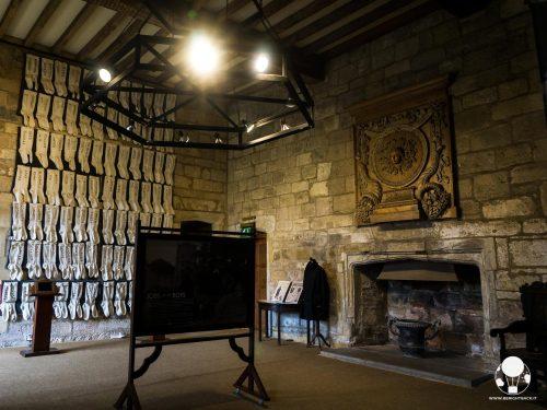 La sala principale della Fountains Hall, di cui è possibile visitare solo poche stanze
