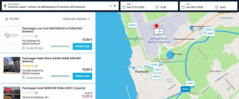 onepark portale che compara parcheggi dove lasciare auto a fiumicino car valet hotel parcheggio low cost