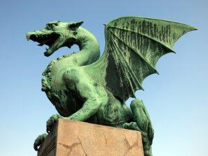 ponte dei draghi lubiana simbolo capitale slovenia