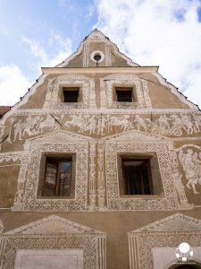 tabor repubblica ceca boemia meridionale cosa vedere case borghesia frontone decorato con incisioni e merlature prazska