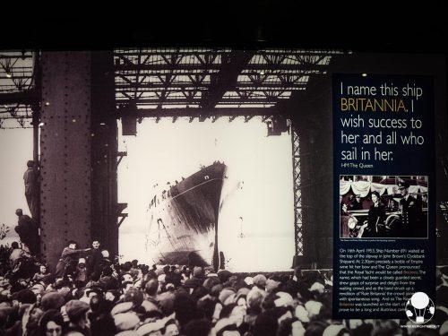Varo della Royal Yacht Britannia alla presenza della regina