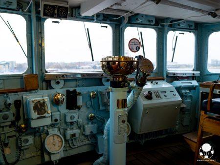 I comandi della Royal Yacht Britannia, tutti pezzi originali