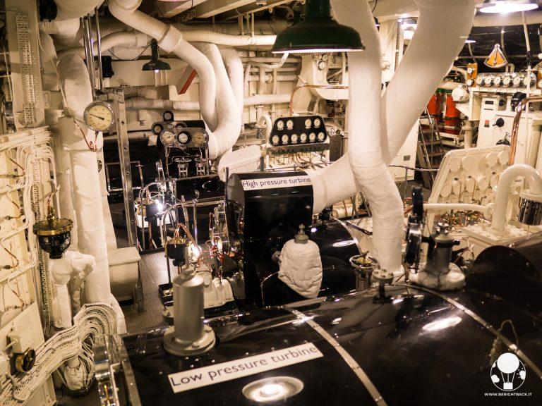 La sala macchine della Royal Yacht Britannia