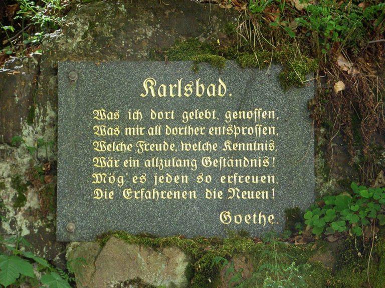 Nella città termale ceca di Karlovy Vary, Goethe figurava tra gli ospiti più illustri ed affezionati