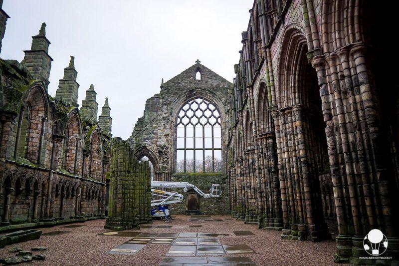 I resti dell'abbazia di Holyrood ad Edimburgo