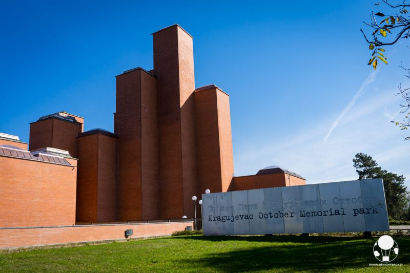 Esterno del Museo del 21 ottobre a Kragujevac