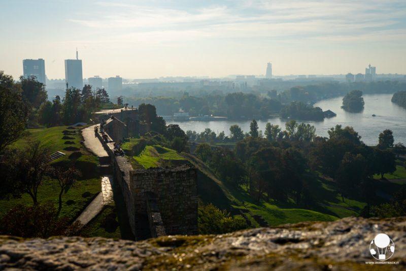 Vista su Danubio e Sava dalla fortezza di Belgrado