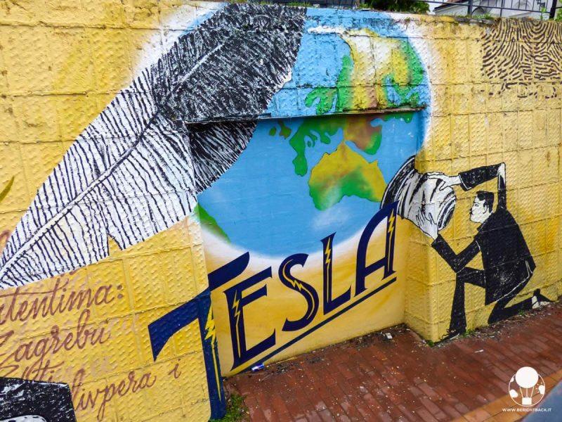 Murale dedicato a Tesla a Zagabria