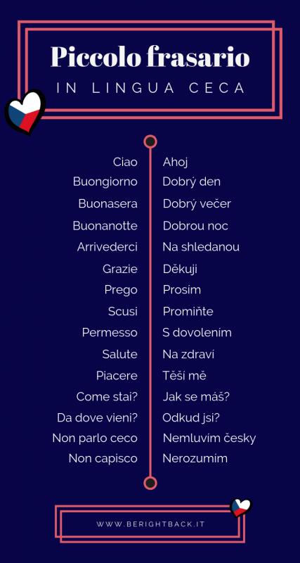 infografica lingua ceca frasario