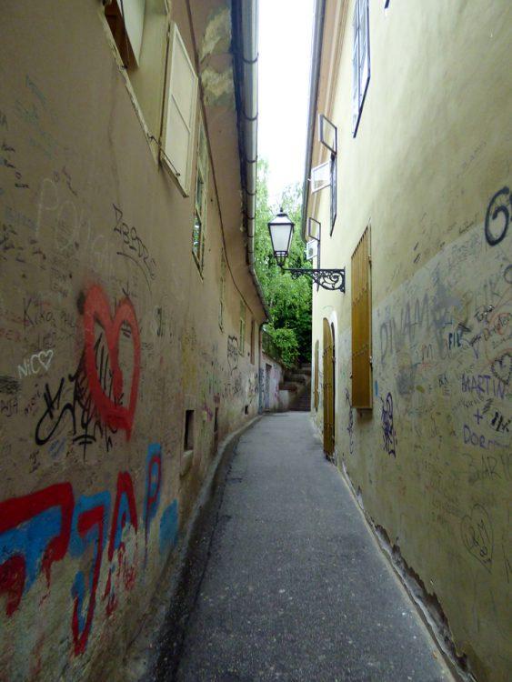 vicolo centro zagabria croazia
